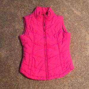Pink Aeropostale Quilted Puffer Vest